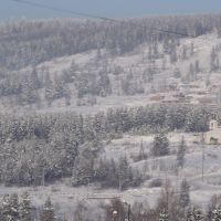Вид на Свято-Троицкий храм г. Железногорска-Илимского (январь 2011 г.), Железногорск-Илимский
