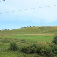 4967-й км Транссиба. Удивительные холмы западнее Тырети, Зима