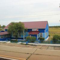 4846-й км Транссиба. Вокзал на станции Тулюшка, Зима