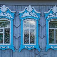с.Шерагул,окна библиотеки, Зима