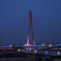 """Пешеходный мост  у """"Фортуны"""", Иркутск"""