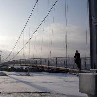 Пешеходный мост в Качуге, Качуг