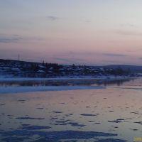 Киренск р.Киренга вид на д.Кирпичики, Киренск