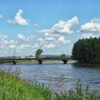 Нижнеудинск. Мост через протоку Застрянку. - Bridge over Zastryanka., Нижнеудинск