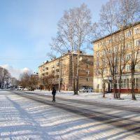 Улица Гоголя в начале зимы., Нижнеудинск