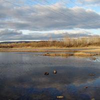 Облака в реке., Нижнеудинск