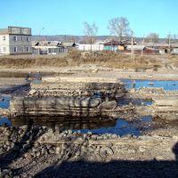Руины старого моста., Нижнеудинск