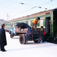 Transsiberian train at Sludyanka, Слюдянка