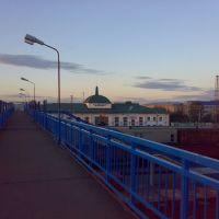 Вокзальный мост, вид на вокзал (2010г.), Тайшет