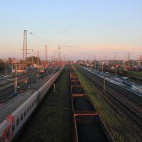 4515-й км Транссиба. Станция Тайшет. Вид на восток, Тайшет
