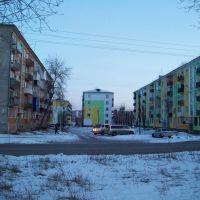 Дома на 59-м квартале, Комсомольский 91, 93, 95 и Машиностроителей 17, Усолье-Сибирское