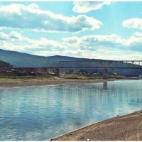 вид на мост, Усть-Кут