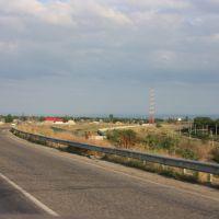 Вид с моста на авторынок, Прохладный
