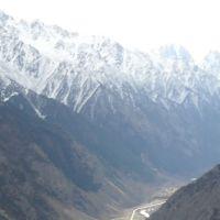 Вид на дорогу в сторону Эльбруса, Тырныауз