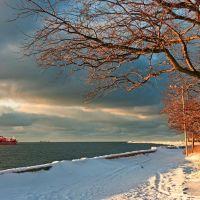 Набережная морского канала. Зима, Балтийск