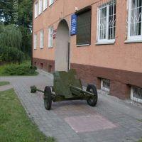 """Гурьевск. Пушка """"Сорокопятка"""" у Музея, Гурьевск"""