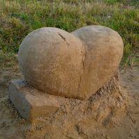 Песчаная скульптура Сердце, Гурьевск