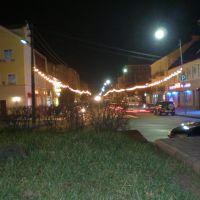 Ночной вид на улицу Московская, Гусев