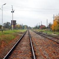 Station tracks (view of the south), Железнодорожный