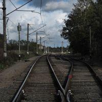 Железнодорожные пути на въезде в Зеленоградск., Зеленоградск