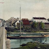 Мост через р.Преголя (до 1930г), Знаменск