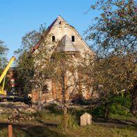 Восстановление католического храма (вид с тыльной стороны), Знаменск