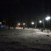 У автостанции ночью, Краснознаменск