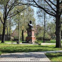 Памятник С.К. Нестерову. в Городе Нестерове. 2009., Нестеров