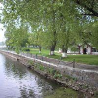 Полесск набережная. Quay of Deima river in Polessk, Полесск