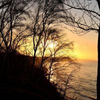 Закат солнца в марте., Светлогорск