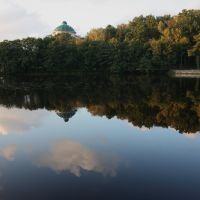 Road along Silent lake - Дорога вдоль Тихого озера., Светлогорск