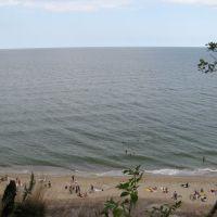 Пляж. Море. Вид с верхушки откоса. г.Светлогорск (ранее Rauschen), Светлогорск