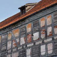 Стена фахверкового здания на берегу Немана в Советске., Советск