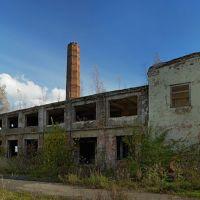 Развалины цех картонажной фабрики в Советске., Советск