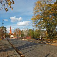 Улица Мамина-Сибиряка в Советске, около Городского пруда., Советск