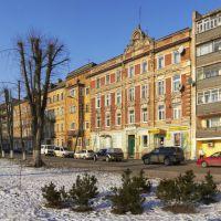 Мешанина архитектурных стилей на улице Рабочей в Советске., Советск