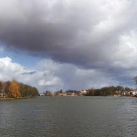 Городской пруд в Советске. Вид с моста., Советск
