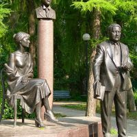 Памятник Гумилевым-Ахматовой, Бежецк