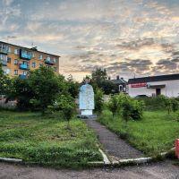 Бологое. Утро, памятник 500 лет, Бологое