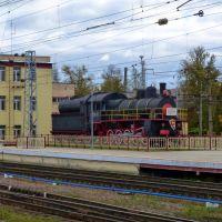 Бологое, вокзал, паровоз Эу 706-10, Бологое
