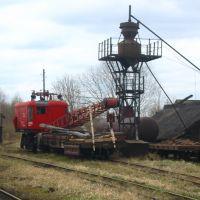 Васильевский Мох, узкоколейный железнодорожный кран восстановительного поезда, Васильевский Мох