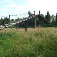 Подвесной мост через Межу (у Кривой берёзы), Жарковский