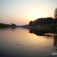 Закат на реке Западная Двина, Западная Двина