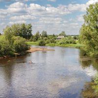 Zapadnaya Dvina, Западная Двина река и въезд в одноимённый город, Западная Двина