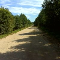 Выезд из деревни Сосенка на дорогу в Торжок, Калинин