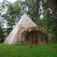 Pyramid-icehouse in the former Nikolay Lvov estate Nikolskoe, Калинин