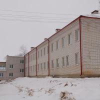 Новое здание школы январь 2008, Кесова Гора