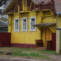 """Кимры. Деревянный дом в стиле """"модерн"""" на ул. Орджоникидзе, Кимры"""