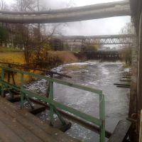Вид на плотину с нижнего моста, Кувшиново