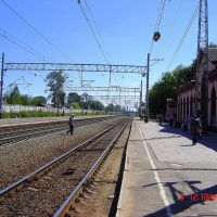 lichoslavl . rautatieasema. railway station .08.2007. näky moskovaan suuntaan., Лихославль